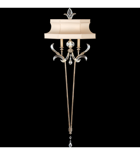 Fine Art Lamps 706950st Beveled Arcs 2 Light Sconce In Silver