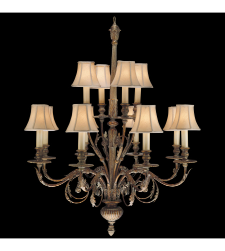 Fine Art Lamps 710340st Verona 12 Light Chandelier In Gold