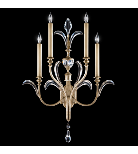 Fine Art Lamps 738650st Beveled Arcs 4 Light Sconce In Silver