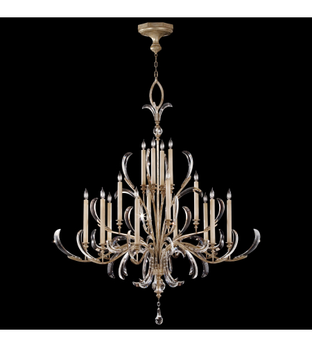 Fine Art Lamps 739640st Beveled Arcs 16 Light Chandelier In Silver