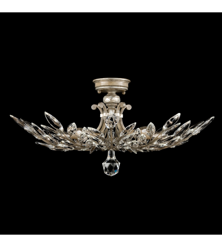 Fine Art Lamps 753440st Crystal Laurel 5 Light Semi-Flush Mount In Other Light