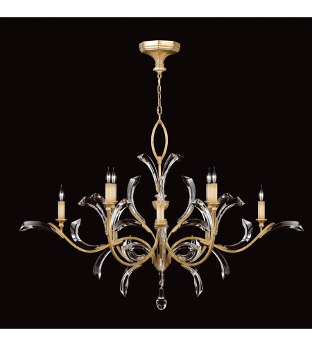 Fine Art Lamps 761640st Beveled Arcs Gold 8 Light Chandelier In Gold