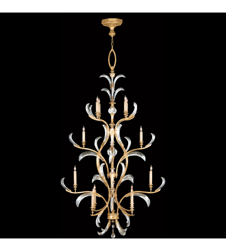 Fine Art Lamps 762940st Beveled Arcs Gold 16 Light Chandelier In Gold
