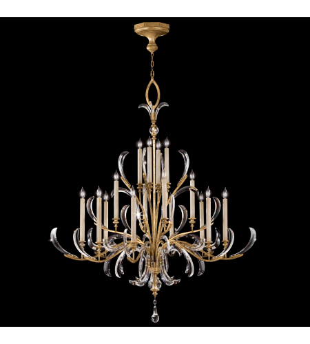 Fine Art Lamps 770040st Beveled Arcs Gold 16 Light Chandelier In Gold