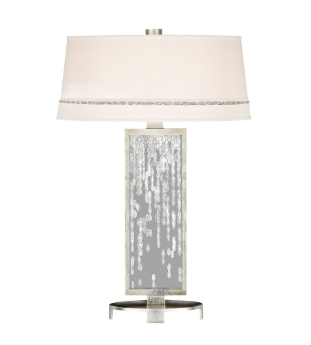 Fine Art Lamps 771910ST Cascades 1 Light Table Lamp in Silver