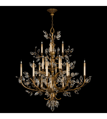 Fine Art Lamps 774440st Crystal Laurel Gold 20 Light Chandelier In Gold