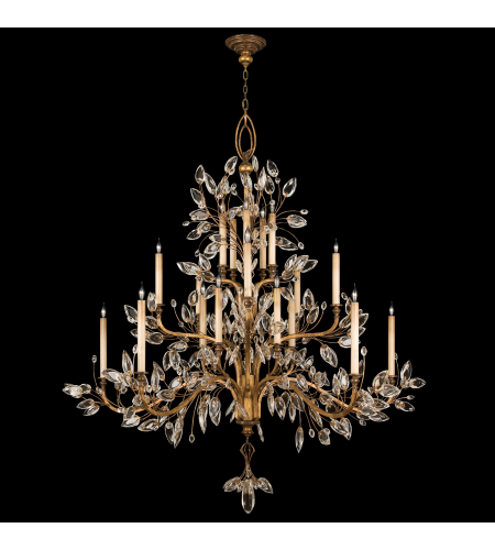 Fine Art Lamps 774540st Crystal Laurel Gold 20 Light Chandelier In Gold