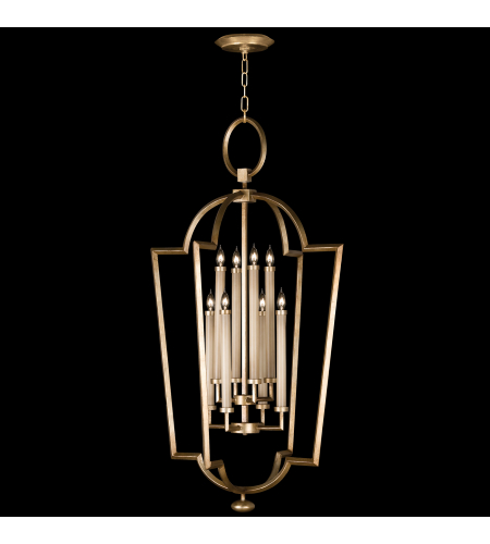 Fine Art Lamps 780440-2ST Allegretto Gold 8 Light Lantern In A Burnished Gold Leaf Finish With Subtle Brown Highlights
