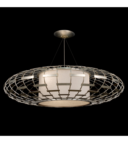 Fine Art Lamps 798640st Allegretto 3 Light Pendant In Silver