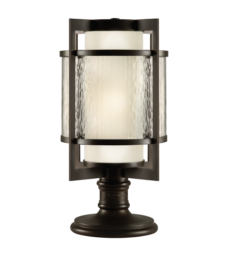 Fine Art Lamps 817583st Singapore Moderne Outdoor 2 Light Outdoor Adjustable Pier/Post Mount In Bronze