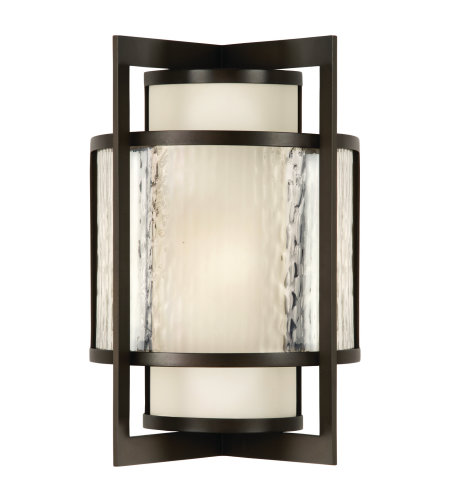 Fine Art Lamps 818081ST Singapore Moderne Outdoor 1 Light Outdoor Wall Sconce in Bronze