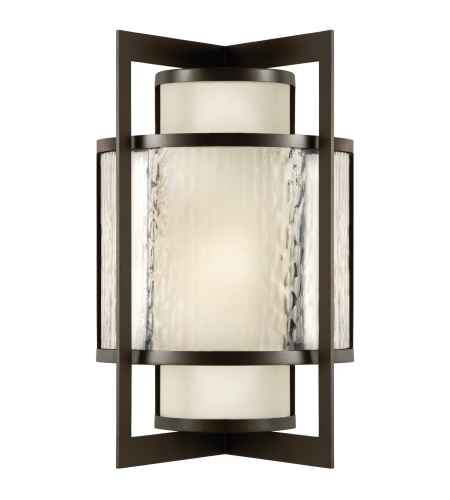 Fine Art Lamps 818181st Singapore Moderne Outdoor 2 Light Outdoor Wall Sconce In Bronze