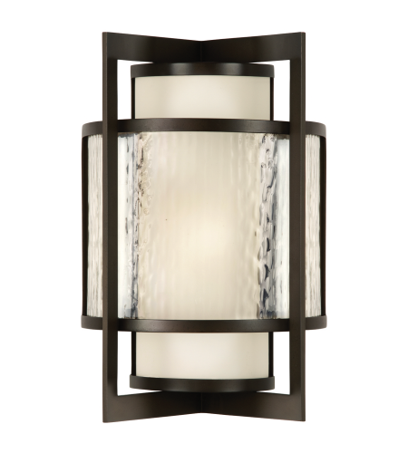 Fine Art Lamps 818281st Singapore Moderne Outdoor 2 Light Outdoor Wall Sconce In Bronze