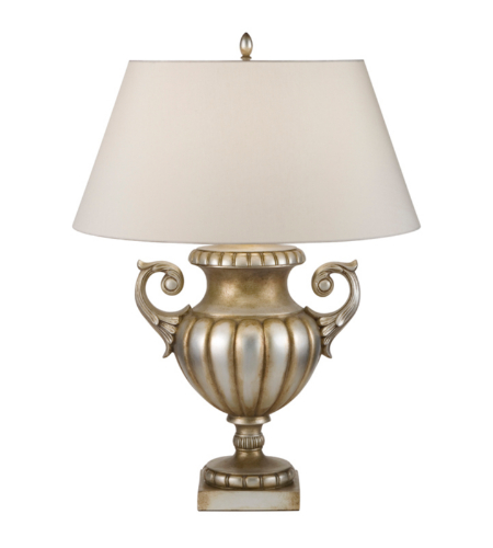 Fine Art Lamps 828610ST Recollections 1 Light Table Lamp In An Antiqued Gold-Stained Silver Leaf Finish