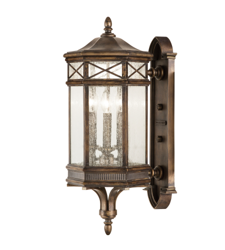 Fine Art Lamps 837481st Holland Park 3 Light Outdoor Wall Mount In Bronze