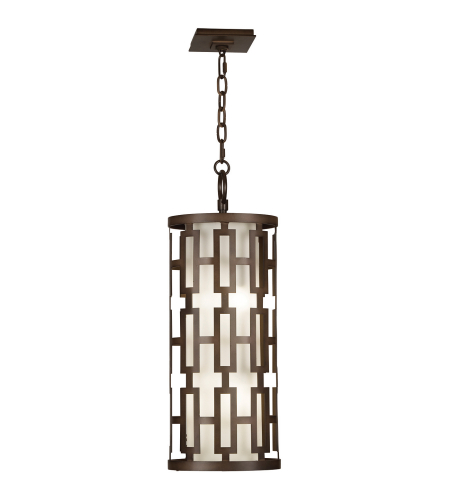 Fine Art Lamps 839082ST River Oaks 4 Light Oval Outdoor Lantern In Dark Bronze With Conforming Off White Oval Glass Shade