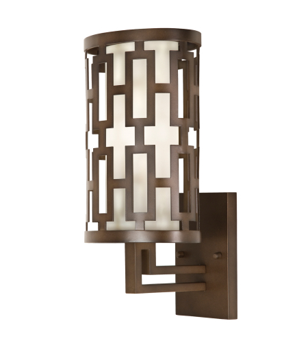 Fine Art Lamps 843481st River Oaks 1 Light Outdoor Wall Mount In Bronze