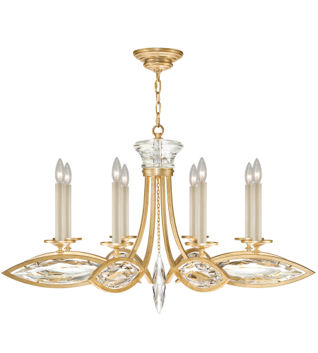 Fine Art Lamps 843940-22st Marquise 8 Light Chandelier In Gold