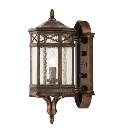 Fine Art Lamps 844881st Holland Park 1 Light Outdoor Wall Mount In Bronze