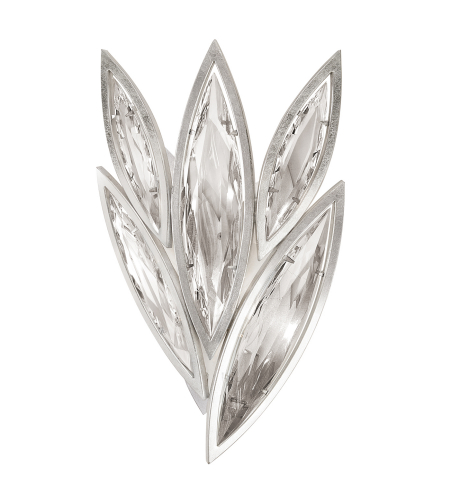Fine Art Lamps 849050-12st Marquise 4 Light Sconce In Silver