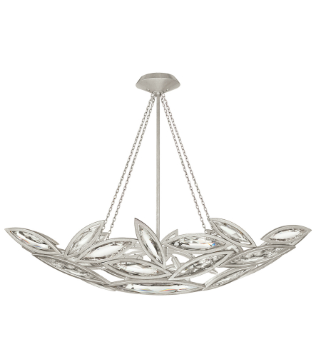 Fine Art Lamps 849640-12st Marquise 7 Light Pendant In Silver