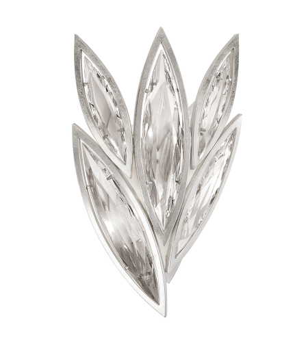Fine Art Lamps 854050-12st Marquise 4 Light Sconce In Silver