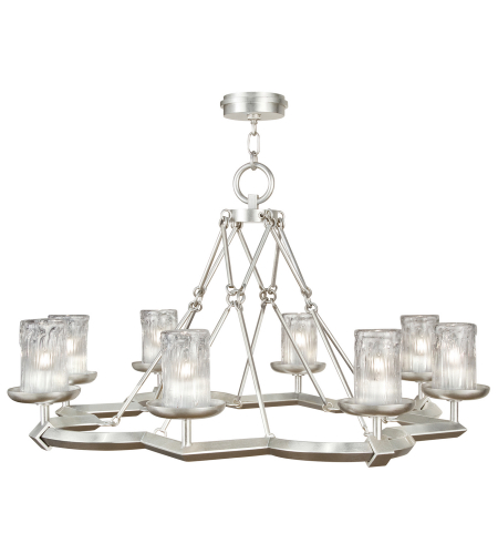 Fine Art Lamps 860340-2st Liaison 8 Light Chandelier In Silver