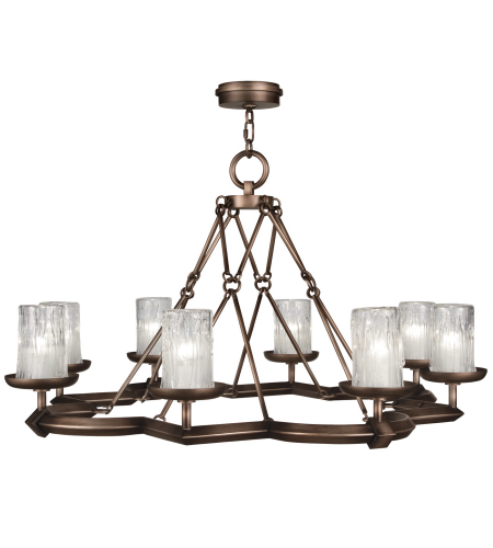 Fine Art Lamps 860340st Liaison 8 Light Chandelier In Bronze