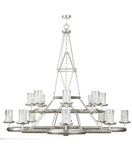 Fine Art Lamps 860540-2st Liaison 16 Light Chandelier In Silver