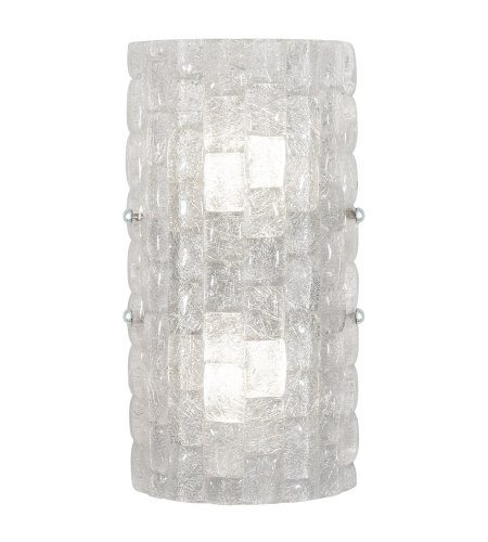 Fine Art Lamps 865250-21ST Constructivism LED 2 Light Sconce in Silver