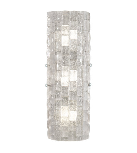 Fine Art Lamps 865450-21ST Constructivism LED 3 Light Sconce in Silver