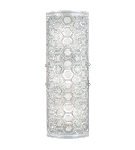 Fine Art Lamps 865450-22ST Hexagons LED 3 Light Sconce in Silver
