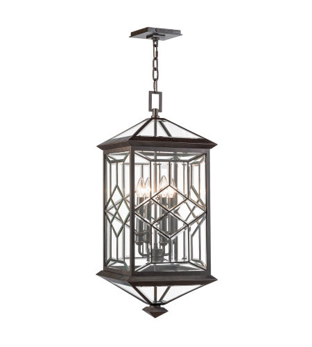 Fine Art Lamps 880481ST Oxfordshire 4 Light Outdoor Lantern in Bronze