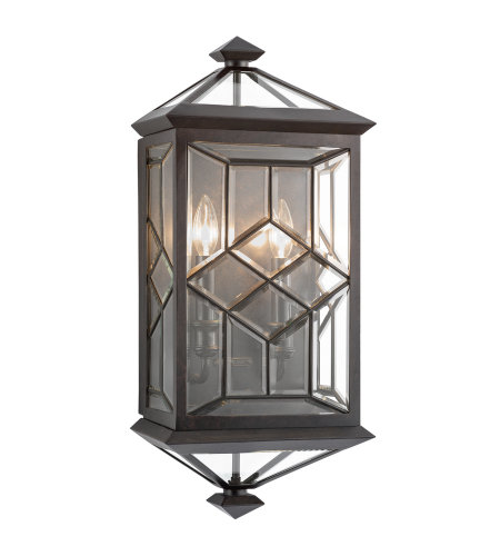 Fine Art Lamps 880781ST Oxfordshire 2 Light Outdoor Coupe in Bronze