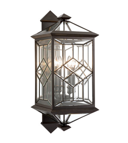 Fine Art Lamps 880881ST Oxfordshire 4 Light Outdoor Wall Mount in Bronze