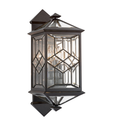Fine Art Lamps 880981st Oxfordshire 3 Light Outdoor Wall Mount In Bronze