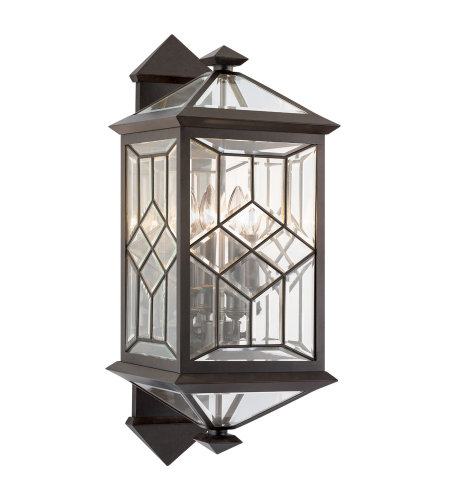 Fine Art Lamps 881081ST Oxfordshire 4 Light Outdoor Wall Mount in Bronze