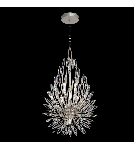 Fine Art Lamps 883840st Lily Buds 6 Light Pendant In Silver