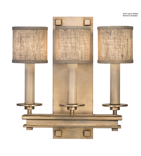 Fine Art Lamps 888950-3st Cienfuegos 3 Light Sconce In Soft Gold