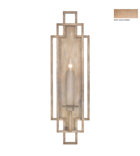 Fine Art Lamps 889350-3st Cienfuegos 1 Light Sconce In Soft Gold