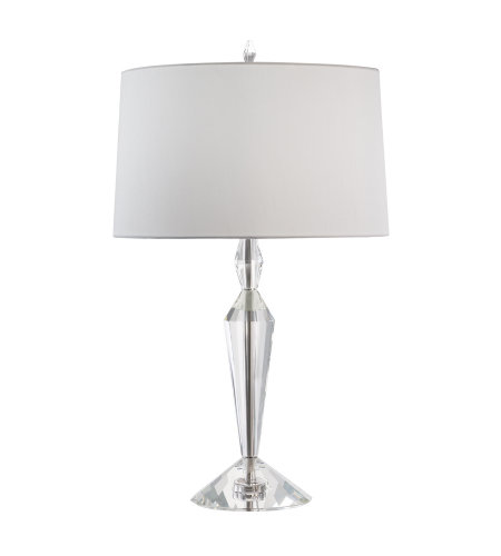 Fine Art Lamps 905610ST Crystal Lamps 1 Light Table Lamp in Nickel
