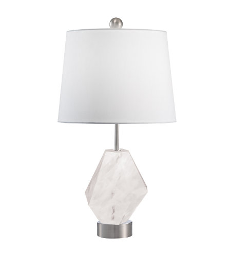 Fine Art Lamps 907310-1ST Crystal Lamps 1 Light Table Lamp in Nickel
