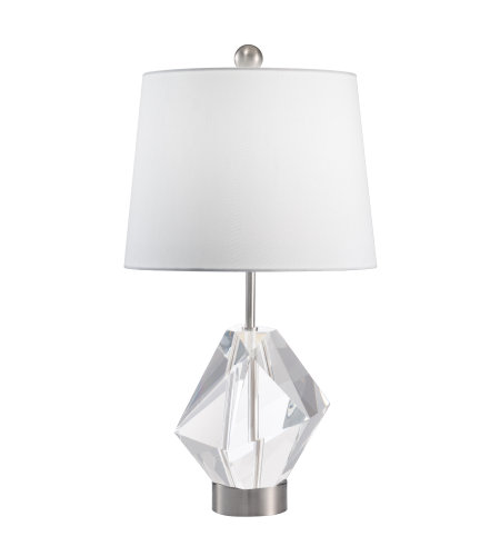 Fine Art Lamps 907310ST Crystal Lamps 1 Light Table Lamp in Nickel