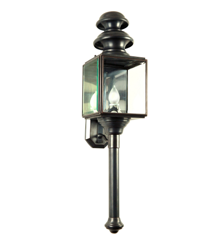 Fourteenth Colony 3301-1-DAC-CLR 1-60w Medium Clear Glass Wall Mount in Dark Antique Copper
