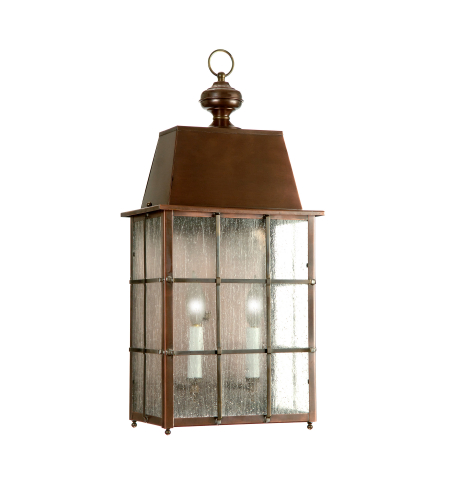 Fourteenth Colony 3551-2-AC-SDY 2-60w Candles Seedy Glass Wall Mount in Antique Copper
