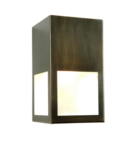 Fourteenth Colony 3851DS-ORB-FCLR 1-60w Medium Frosted Clear Glass Wall Mount in Oil Rubbed Brass