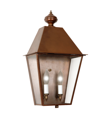 Fourteenth Colony 4051-H-AC-CLR 2-60w Candles Clear Glass Wall Mount in Antique Copper