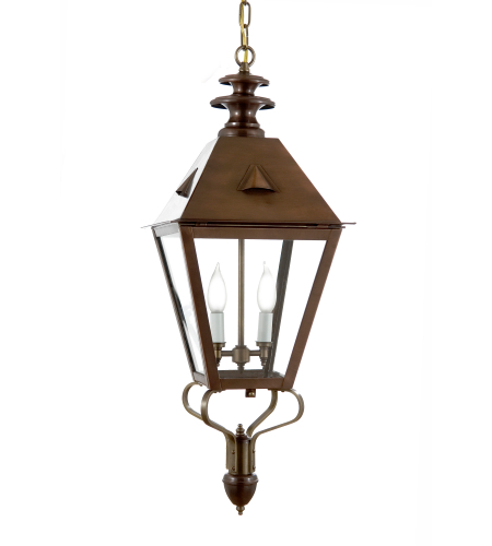 Fourteenth Colony 4222-2-AC-CLR 2-60w Candles Clear Glass Ceiling Mount in Antique Copper