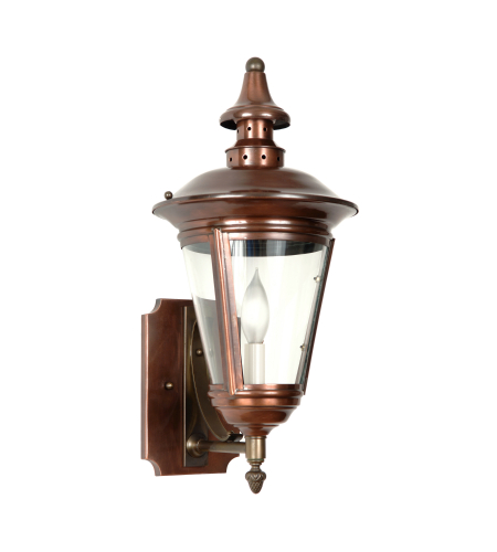 Fourteenth Colony 4491-1-AC-CLR 1-60w Candle Clear Glass Wall Mount in Antique Copper