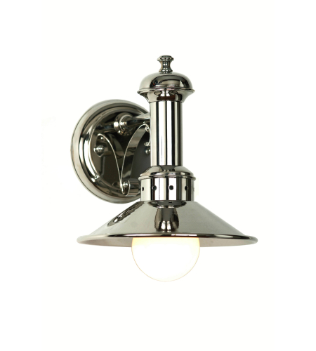 Fourteenth Colony 7130-S-PN 1-60w Medium Wall Mount in Polished Nickel